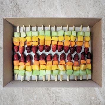 Rainbow Fruit Sticks Platter